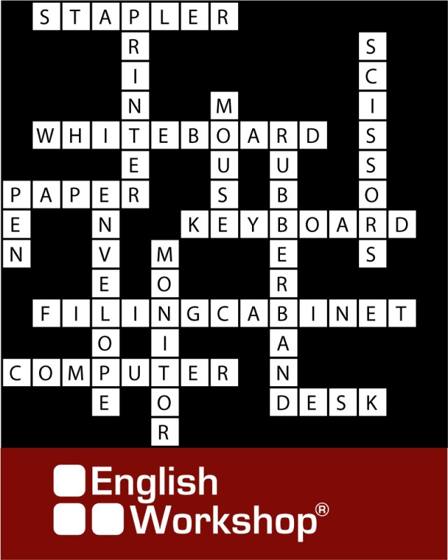 Answers to last week's crossword puzzle