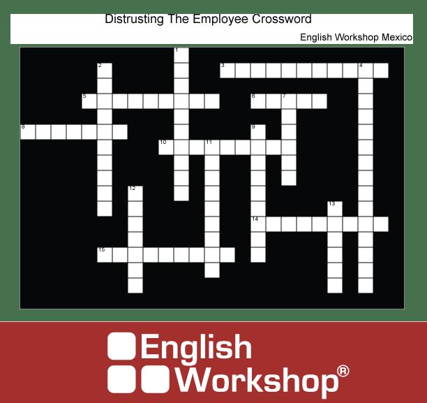 Distrusting employees crossword puzzle