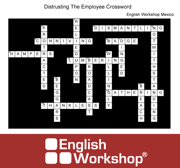 Answers to Distrusting the Employee Crossword Puzzle