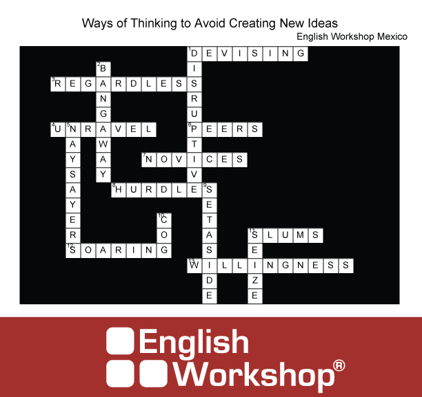 Crossword answers, avoid creating new ideas.