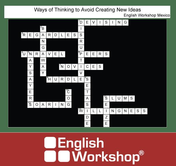 Crossword answers, avoid creating new ideas.